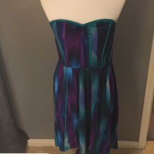 Strapless Colorful Dress Size Large